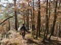 Wandern durch den Herbstwald am Kirchfels